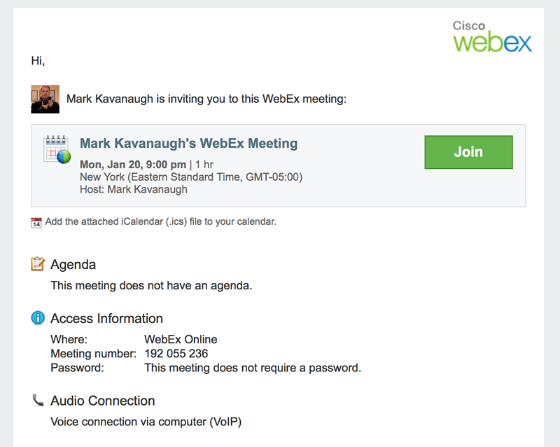 WebEx Meetings